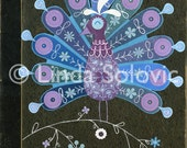 Anna the Peacock Print 8.5 x 11