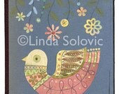 Chloe the Bird Original Collage