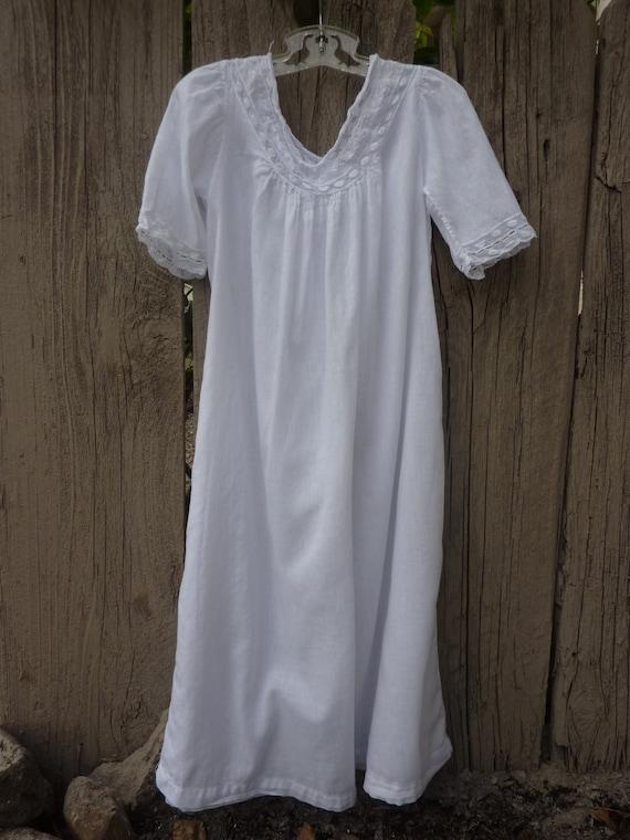 Antique Girls White Cotton Nightgown