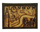 LONDON - Leather Travel Photo Album - Handcrafted