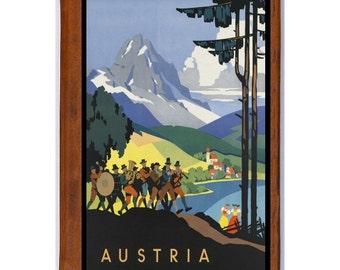 AUSTRIA 1- Handmade Leather Journal / Sketchbook - Travel Art
