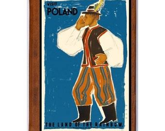 POLAND 5- Handmade Leather Journal / Sketchbook - Travel Art