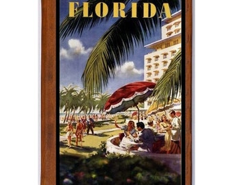 FLORIDA 3- Handmade Leather Journal / Sketchbook - Travel Art