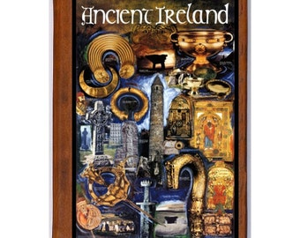 IRELAND 3- Handmade Leather Journal / Sketchbook - Travel Art