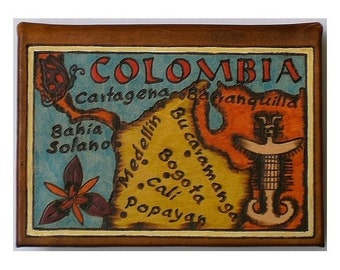 COLOMBIA - Leather Travel Photo Album - Handmade