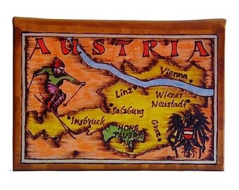 AUSTRIA - Leather Travel Journal / Sketchbook - Handmade