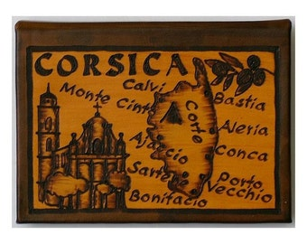 CORSICA - Leather Travel Journal / Sketchbook - Handcrafted