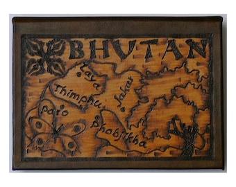 BHUTAN - Leather Travel Journal / Sketchbook - Handcrafted
