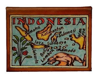 INDONESIA - Leather Travel Journal / Sketchbook - Handmade