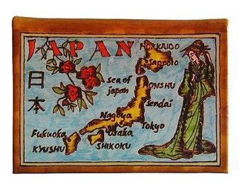 JAPAN - Leather Travel Journal / Sketchbook - Handmade