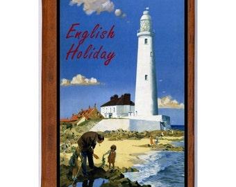 ENGLAND 3- Handmade Leather Journal / Sketchbook - Travel Art