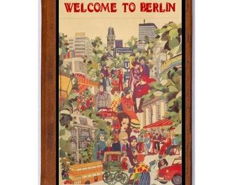 BERLIN 1- Handmade Leather Journal / Sketchbook - Travel Art