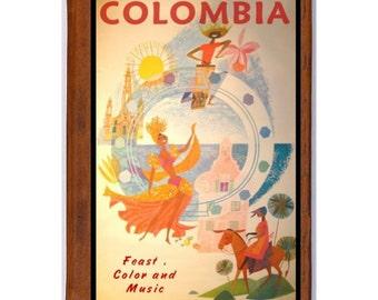 COLOMBIA 1- Handmade Leather Journal / Sketchbook - Travel Art