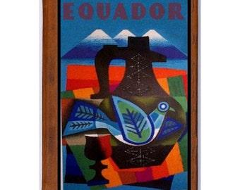 ECUADOR 1- Handmade Leather Journal / Sketchbook - Travel Art