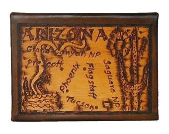 ARIZONA - Leather Travel Journal / Sketchbook - Handcrafted