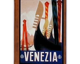 VENICE 1- Handmade Leather Journal / Sketchbook - Travel Art