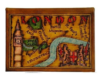 LONDON - Leather Travel Photo Album - Handmade