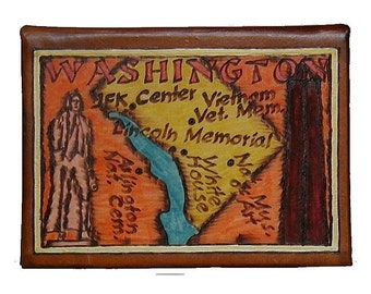 WASHINGTON DC - Leather Travel Photo Album - Handmade