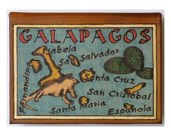 GALAPAGOS - Leather Travel Photo Album - Handmade