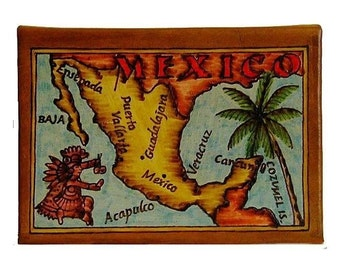 MEXICO - Leather Travel Photo Album - Handmade