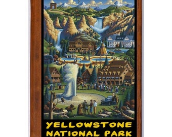 YELLOWSTONE 1- Handmade Leather Photo Album - Travel Art
