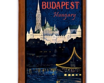 BUDAPEST 1- Handmade Leather Journal / Sketchbook - Travel Art