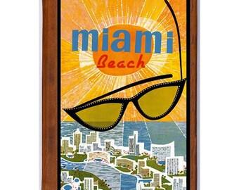 MIAMI BEACH 1- Handmade Leather Photo Album - Travel Art