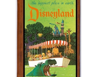 DISNEYLAND 19- Handmade Leather Journal / Sketchbook - Travel Art