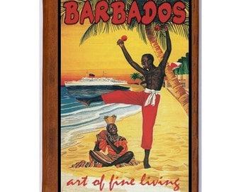 BARBADOS 1- Handmade Leather Photo Album - Travel Art