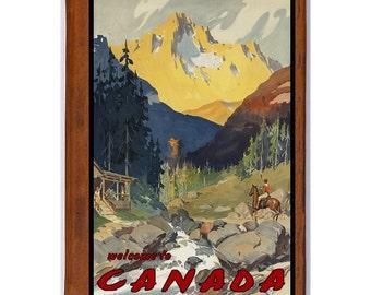 CANADA 2- Handmade Leather Journal / Sketchbook - Travel Art