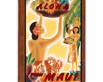 MAUI 3- Handmade Leather Journal / Sketchbook - Travel Art