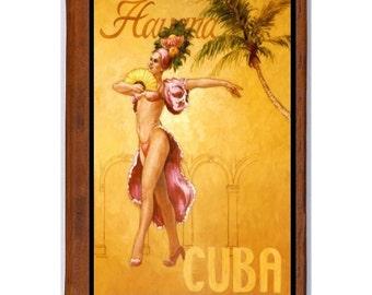 HAVANA Cuba 7- Handmade Leather Photo Album - Travel Art