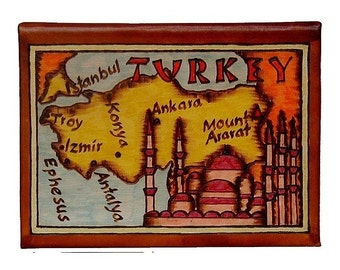 TURKEY - Leather Travel Photo Album - Handmade