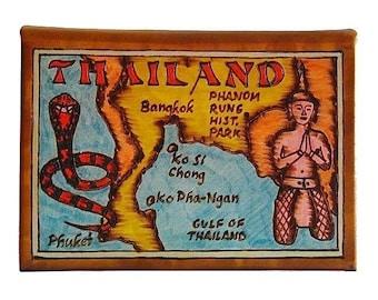 THAILAND - Leather Travel Photo Album - Handmade