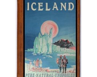 ICELAND 1- Handmade Leather Photo Album - Travel Art