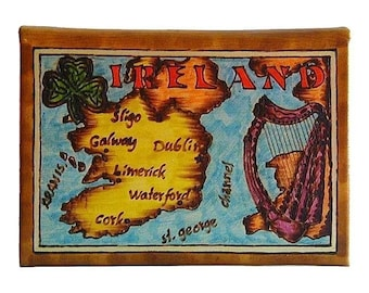 IRELAND - Leather Travel Photo Album - Handmade