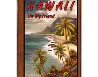 HAWAII 4- Handmade Leather Journal / Sketchbook - Travel Art