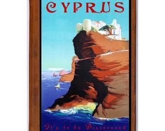 CYPRUS 1- Handmade Leather Journal / Sketchbook - Travel Art