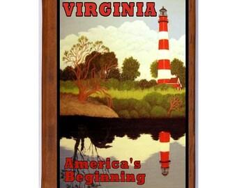VIRGINIA 1- Handmade Leather Photo Album - Travel Art