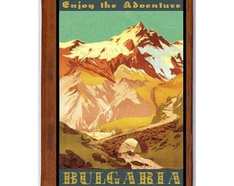 BULGARIA 1- Handmade Leather Journal / Sketchbook - Travel Art