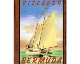 BERMUDA 5- Handmade Leather Journal / Sketchbook - Travel Art