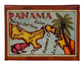 PANAMA - Leather Travel Photo Album - Handmade