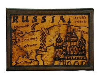 RUSSIA - Leather Travel Photo Album - Handcrafted