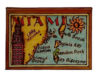 MIAMI - Leather Travel Photo Album - Handmade