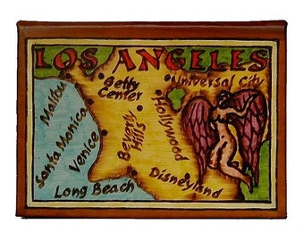 LOS ANGELES - Leather Travel Photo Album - Handmade