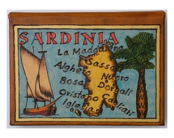 SARDINIA - Leather Travel Photo Album - Handmade