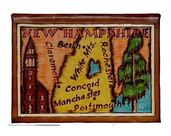 NEW HAMPSHIRE - Leather Travel Photo Album - Handmade