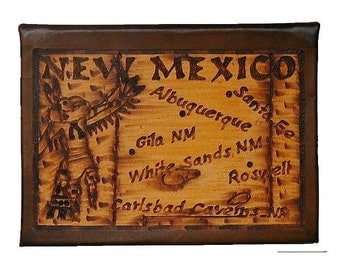 NEW MEXICO - Leather Travel Photo Album - Handcrafted