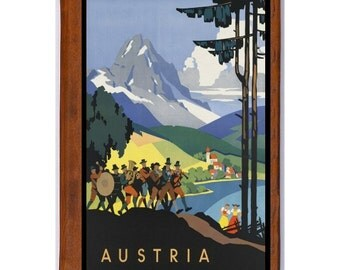 AUSTRIA 1- Handmade Leather Photo Album - Travel Art