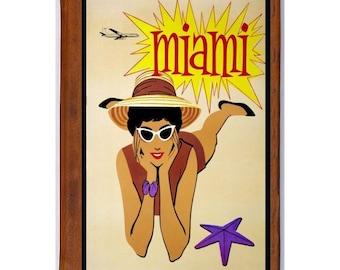 MIAMI 2- Handmade Leather Photo Album - Travel Art